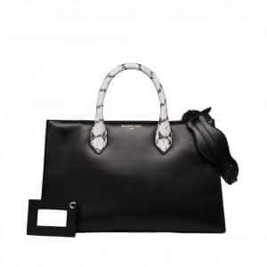 Balenciaga Black with Python Handles Tote Bag - Spring 2014