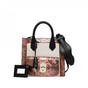 Balenciaga Canvas/Python Padlock Bag - Spring 2014