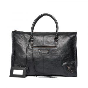 Balenciaga Noir/Black Classic Weekender Bag
