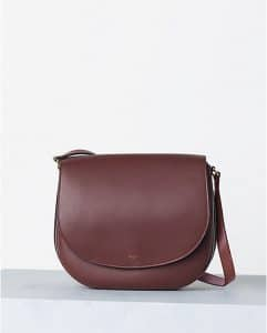 Celine Burgundy Natural Calfskin Trotteur Bag