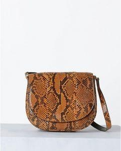Celine Caramel Python Trotteur Bag