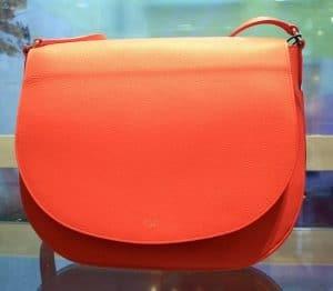 Celine Coral Grained Calfskin Trotteur Bag
