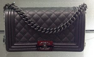 Chanel Black Boy Chanel Perforated Medium Flap Bag