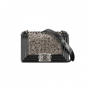 Chanel Black Crystal Boy By Night Flap Bag - Spring 2014 Act 1