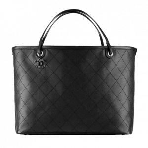 Chanel Black Large Shopping Tote Bag - Spring 2014 Act 1