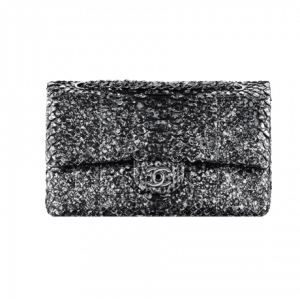 Chanel Black Python Flap Bag - Spring 2014 Act 1