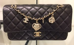Chanel Black Valentine Flap Medium Bag