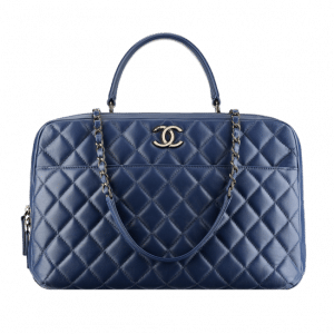 Chanel Blue Large Quilted Tote Bag - Spring 2014 Act 1