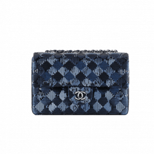 Chanel Chevron Sequins Blue Flap Bag - Spring 2014 Act 1