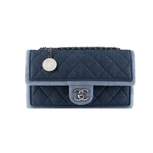 Chanel Graphic Denim Flap Bag with Medallion - Spring 2014 Act 1