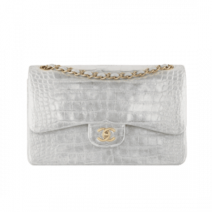 Chanel Grey Alligator 2.55 Flap Bag - Spring 2014 Act 1