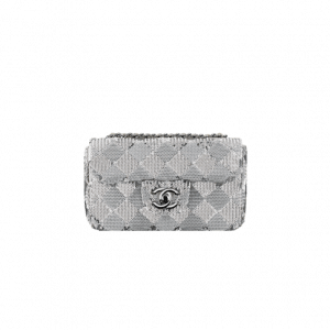 Chanel Grey Chevron Sequins Flap Bag - Spring 2014 Act 1