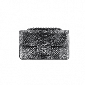 Chanel Mini Python Black Flap Bag - Spring 2014 Act 1