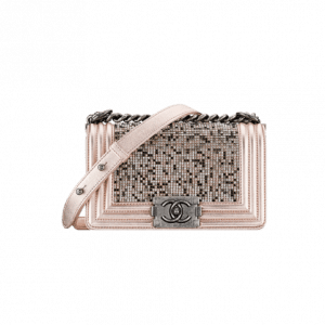 Chanel Pink Crystal Boy By Night Flap Bag - Spring 2014 Act 1