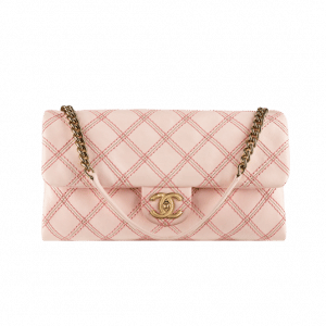 Chanel Pink Irridescent Stitch Flap Bag - Spring 2014 Act 1