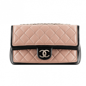 Chanel Pink Two Tone Graphic Flap Bag - Spring 2014 Act 1