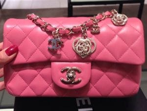 Chanel Pink Valentine Flap Mini Bag
