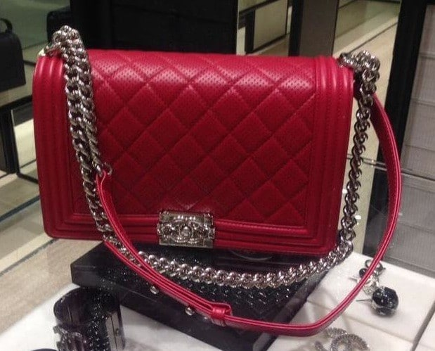 chanel boy perforated flap bag reference guide spotted