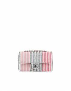 Chanel Small Sequins Pink and Grey Flap Bag - Spring 2014 Act 1 EXCEPTIONAL
