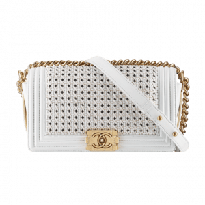 Chanel White Boy Reverso Flap Bag Braided - Spring 2014 Act 1