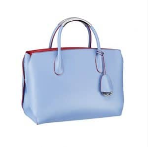 Dior Light Blue with Pink Interior Bar Bag - Spring 2014