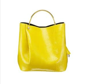 Diorific Yellow Python Small Bucket Bag
