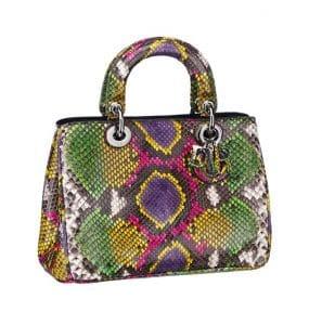 Diorissimo Small Multicolor Python Tote Bag - Spring 2014