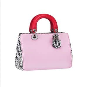 Diorissimo Small Pink and Spotted Tote Bag - Spring 2014