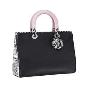 Diorissimo Spotted Tricolor Pink and Black Tote Bag - Spring 2014