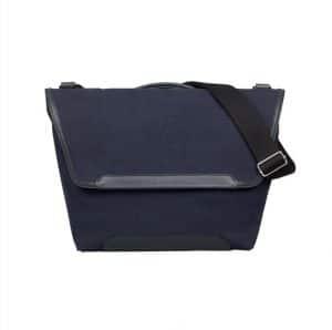 Hermes Blue Canvas Shoulder Bag - Spring 2014