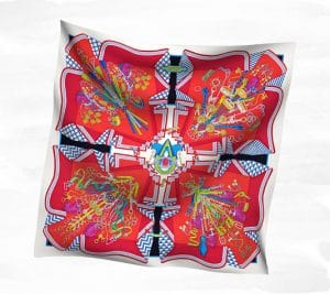 Hermes Bouquets Sellier Scarves - Spring 2014