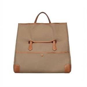 Hermes Brown Canvas Tote Bag 2 - Spring 2014
