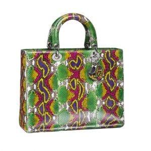 Lady Dior Multicolor Python Tote Bag - Spring 2014