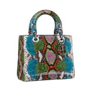 Lady Dior Small Multicolor Python Bag - Spring 2014