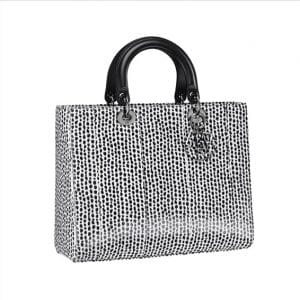 Lady Dior Spotted Black Tote Bag - Spring 2014