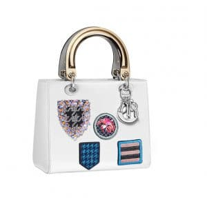 Lady Dior White with Stamps Tote Bag - Spring 2014