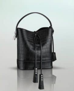 Louis Vuitton NN14 Black Alligator Noe Bag - Spring Summer 2014