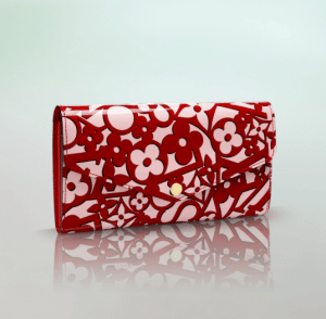 Louis Vuitton Pomme D'Amour Sweet Monogram Sarah Wallet