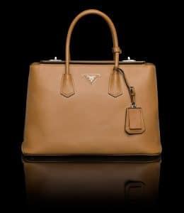 Prada Caramel Twin Bag