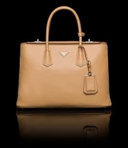 Prada Hazelnut Twin Bag