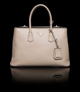 Prada Pale Grey Twin Bag
