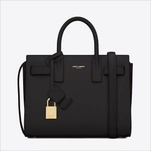 Saint Laurent Black Classic Mini Sac De Jour Bag - Spring 2014