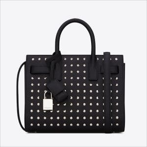 Saint Laurent Black Studded Classic Small De Jour Bag - Spring 2014