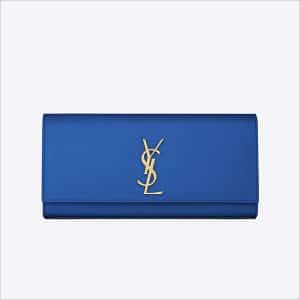Saint Laurent Blue Classic Monogramme Saint Laurent Clutch Bag - Spring 2014
