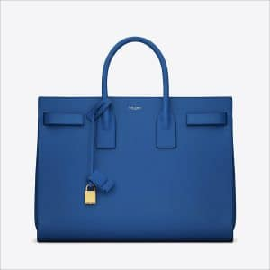 Saint Laurent Blue Classic Sac De Jour Bag - Spring 2014