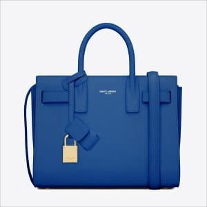Saint Laurent Blue Classic Mini Sac De Jour Bag - Spring 2014