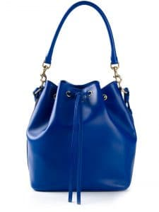 Saint Laurent Blue Emmanuelle Bucket Bag