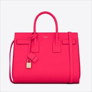 Saint Laurent Fuchsia Classic Small Sac De Jour Bag - Spring 2014
