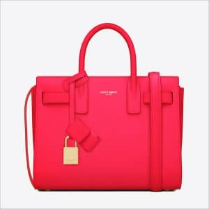 Saint Laurent Fuchsia Classic Mini Sac De Jour Bag - Spring 2014