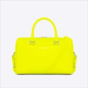 Saint Laurent Neon Yellow Classic Duffle 6 Bag - Spring 2014